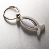 Jesus Ichthus Keyring in Metal Case