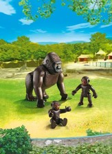 Playmobil Gorilla With Babies Accessory