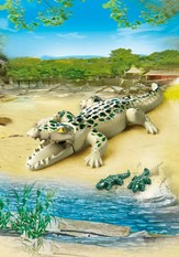 Playmobil Alligator With Babies Accessory