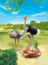 Playmobil Ostriches With Nest Accessory