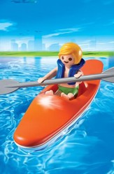 Playmobil Kid With Kayak Accessory