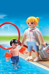 Playmobil Pool Supervisor Accessory