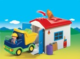PLAYMOBIL ® Truck with Garage Playset