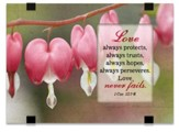 Love Always Protects, Tabletop Plaque