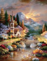 A Country Evening Service, 1000 piece Jigsaw Puzzle