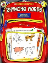 Rhyming Words Color, Trace, and Learn (Prek-1) Homework Helper