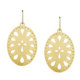Cut-out Oval Cross Earrings