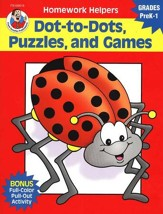 Dot-to-Dot, Puzzles, and Games (PreK-1) Homework Helper