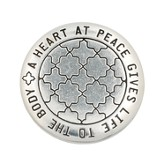 Heart at Peace Pocket Mirror