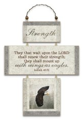 Strength, Cross Wall Plaque