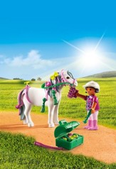 Playmobil Groomer With Heart Pony Accessory