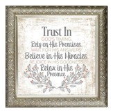Trust In God's Timing Framed Decor