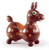 Rody Inflatable Hopping Horse, Mocha