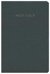 KJV Super Giant Print Reference Bible, Imitation leather, black, thumb indexed