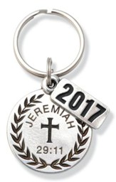 2017 Graduate Pewter Key Ring (Jeremiah 29:11)