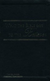 What the Bible Says to the Believer - Imitation Leather, Black