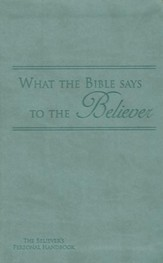 What the Bible Says to the Believer - Imitation Leather, Dark Seagreen