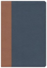 NKJV Amplified Parallel Large-Print Bible Flexisoft,  Blue/Brown