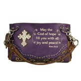 Peace, Fashion Cross Purse, Purple