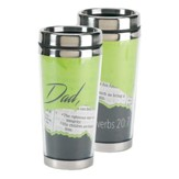 Dad, The Righteous Man Walks Travel Mug
