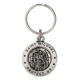 Saint Michael Pewter Key Ring