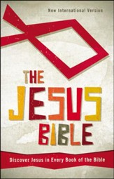 NIV The Jesus Bible: Discover Jesus in Every Book of the Bible, Hardcover, Printed - Slightly Imperfect