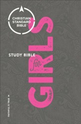 CSB Study Bible for Girls - Imperfectly Imprinted Bibles