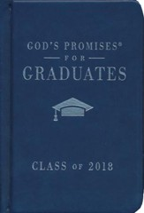 NKJV God's Promises for Graduates, Class of 2018, Navy