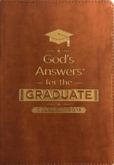 NKJV God's Answers for the Graduate Class of 2018, Brown