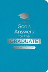 NKJV God's Answers for the Graduate Class of 2018, Teal