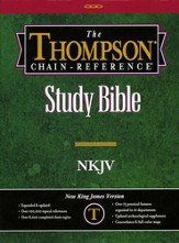 NKJV Thompson Chain-Reference Bible, Burgundy  Bonded Leather, Thumb Indexed