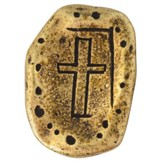 Brass Plated Pocket Token, Cross, Always in my Heart