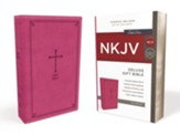 NKJV Deluxe Gift Bible, Pink  - Imperfectly Imprinted Bibles