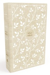 NKJV Thinline Bible, White and Tan , Hardcover - Imperfectly Imprinted Bibles