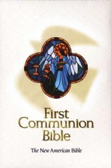 NAB First Communion Bible, Imitation leather, White, Thumb-Indexed  - Imperfectly Imprinted Bibles