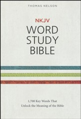 NKJV Word Study Bible, Hardcover - Slightly Imperfect