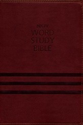 NKJV Word Study Bible, Imitation Leather Brown, Indexed