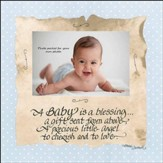A Baby is a Blessing Photo Frame, Blue