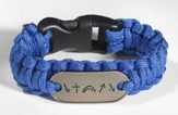 Survival Bracelet, Blue