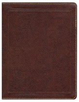 KJV Holy Bible, Journal Edition, Imitation Leather, Brown - Slightly Imperfect