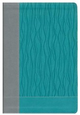 NIV Faithlife Study Bible: Intriguing Insights to Inform Your Faith--soft leather-look, gray/turquoise (indexed) - Imperfectly Imprinted Bibles