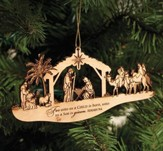 Nativity Ornament, For Unto Us A Child Is Born
