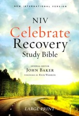 NIV Celebrate Recovery Large-Print  Study Bible, softcover