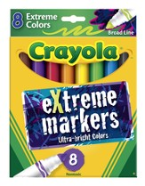 Crayola, Extreme Markers, 8 Pieces