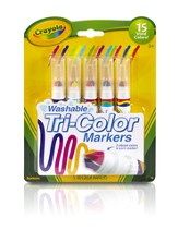 Crayola, Tri-Color Washable Markers, 5 Pieces
