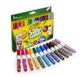 Silly Scents, Chisel Tip Washable Markers, 12 pieces