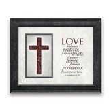 Love Never Fails, Framed Art
