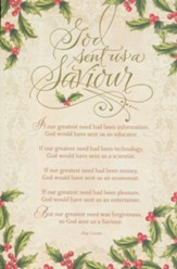 God Sent Us A Saviour Christmas Cards, Box of 18