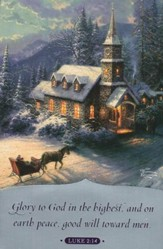 Thomas Kinkade Sunday Evening Sleigh Ride Christmas Cards, Box of 18