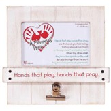 A Mommy's Heart, Hands That Play, Hands That Pray Photo Frame